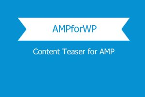 Content Teaser For Amp